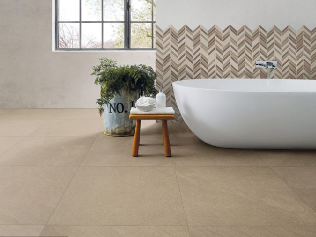 Brave Colorbody Porcelain Tile Collection Bathroom Installation