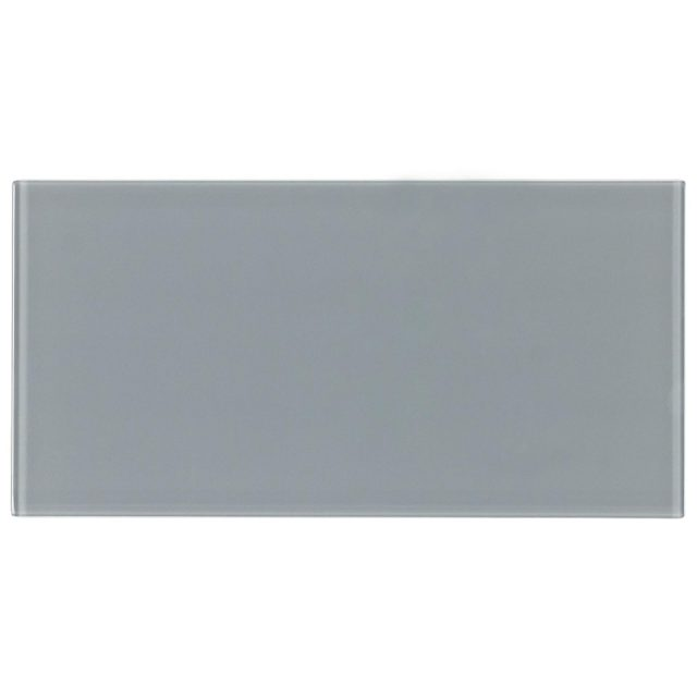 Cosmopolitan Grey Glass Subway Tile