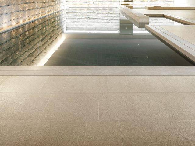 Forever Collection Cream Porcelain Tile Installation