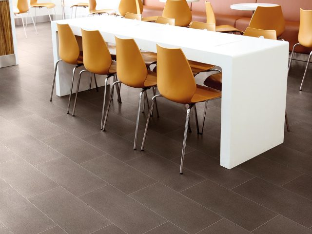 Foulard Collection Brown Tile Installation