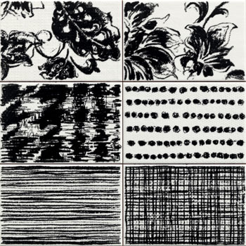 Black and White Decor 2 Tiles