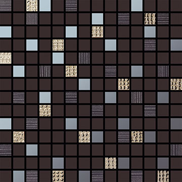 Numbered Black Multi Mosaic
