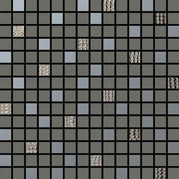 Numbered Grey Multi Mosaic