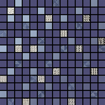 Numbered Indigo Multi Mosaic