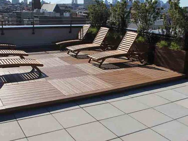 Concrete Rooftop Pavers