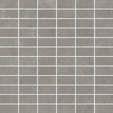 Cementing-Grey Stacked Mosaic