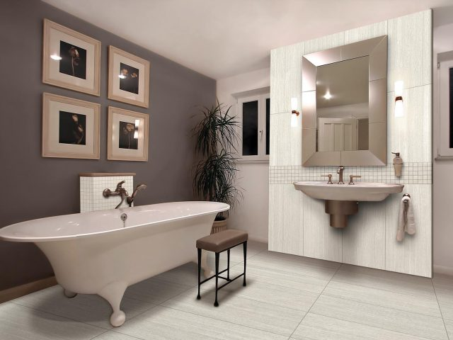 Atmosphere Collection Porcelain Tile Bathrom Installation