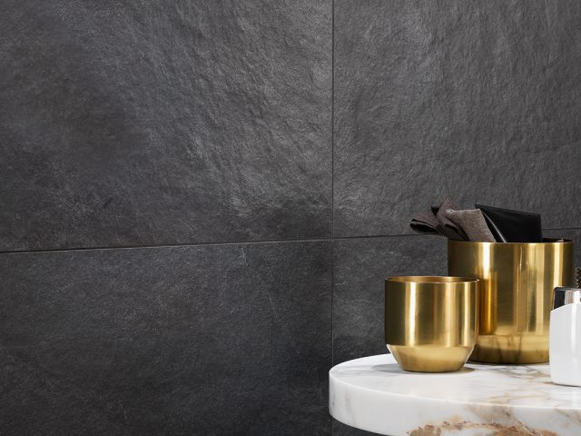 Cascade Black Slate Look Porcelain Tile