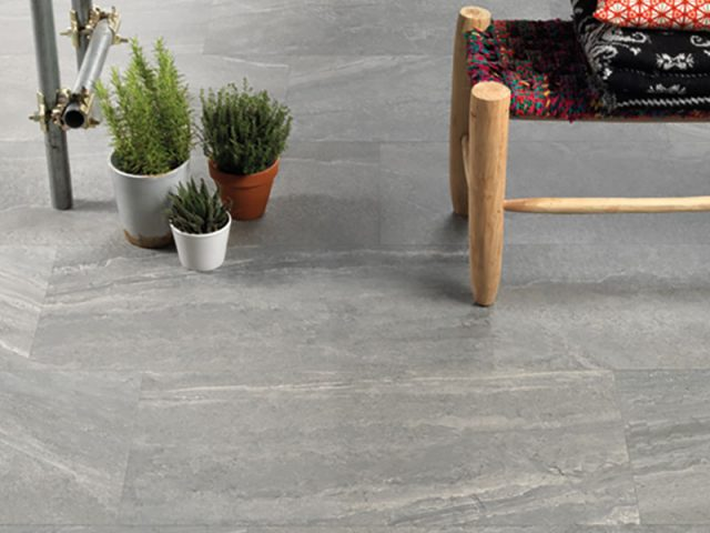 Casting Stone Look Porcelain Floor Tile Installation